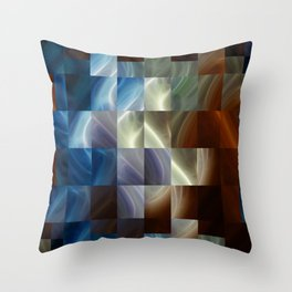 Metal Squares Throw Pillow