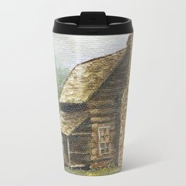 Log Cabin in Smokies Travel Mug
