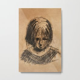 sad girl Metal Print