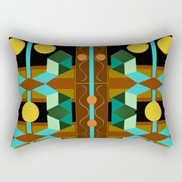 Modern Geometric Textured Abstract Rectangular Pillow