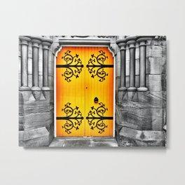 Big Yellow Door Metal Print
