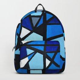 Blue Geometric Backpack