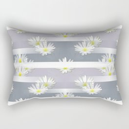Mix of formal and modern with anemones and stripes 2 Rectangular Pillow
