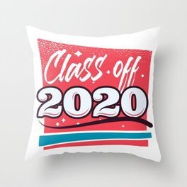 class of 2020  Throw Pillow