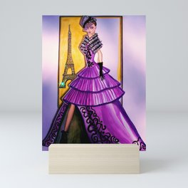 ESCAPE TO LOVE FASHION ILLUSTRATION BY JAMES THOMAS RYAN Mini Art Print