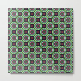 Mandala - Green - Gothic Pasifika Metal Print