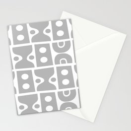 Mid Century Modern Abstract Composition 617 Gray Stationery Cards
