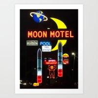Moon Motel Art Print