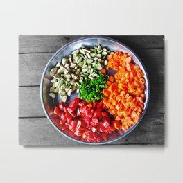 Organic Food Metal Print