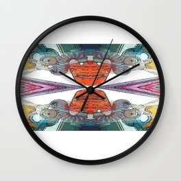 Colourful Doom Mask Wall Clock