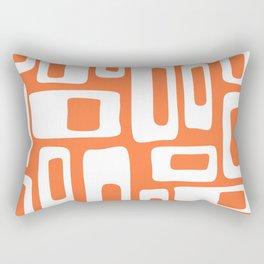 Retro Mid Century Modern Abstract Pattern 335 Orange Rectangular Pillow