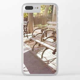 New York City Park Bench Moments Clear iPhone Case
