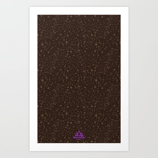 Trail Status / Brown Art Print