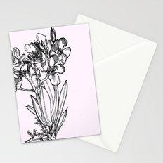 flower in black ink Stationery Cards