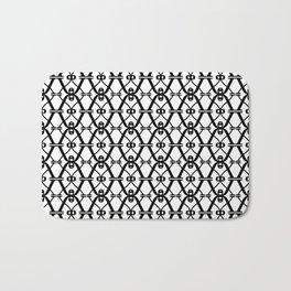 X black and white pattern Bath Mat