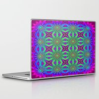 psychedelic Laptop & iPad Skins featuring PSYCHEDELIC flowers by 2sweet4words Designs