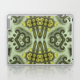 Yellow Insectoid Square #2 Laptop & iPad Skin