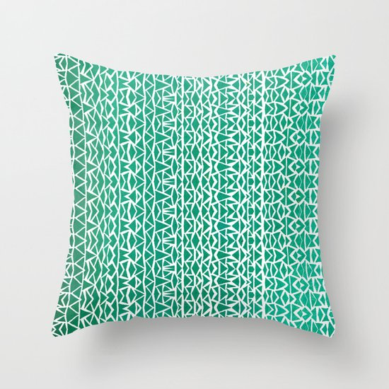 Tribal Forest Throw Pillow