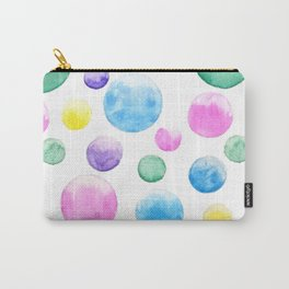 cheerful colorful bubbles Carry-All Pouch