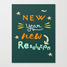 New Year New Resolution Canvas Print