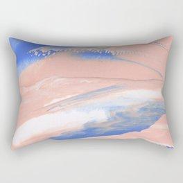 Pink Paint Strokes Rectangular Pillow