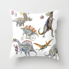 PARTY OF DINOSAURS Throw Pillow