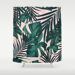 Tropical Jungle Leaves Pattern #5 #tropical #decor #art #society6 Shower Curtain