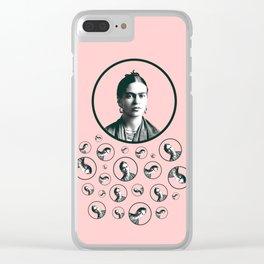 Frida Kahlo design Clear iPhone Case