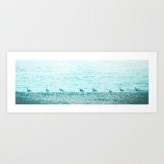 SUMMER LINEUP Art Print