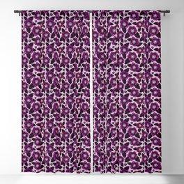 Dark Blooms-Aubergine Blackout Curtain