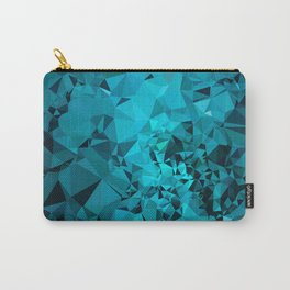 Teal Geometric Pattern Carry-All Pouch