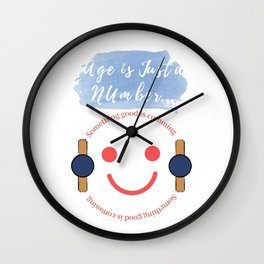 Age is Merely a Number Wall Clock