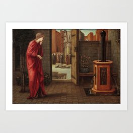 "Edward Burne-Jones ""Danaë Watching the Building of the Brazen Tower"" Art Print"