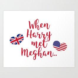 When Harry met Meghan   Fun Royal Wedding Art Print