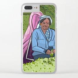 Tea Plantation Portrait Clear iPhone Case