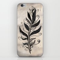 feather iPhone & iPod Skins featuring FEATHER by Nika