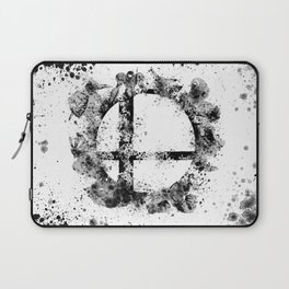 Super Smash Bros Ink Splatter Laptop Sleeve