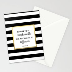 Coco Gold Irreplaceable Fashion Quote Stationery Cards