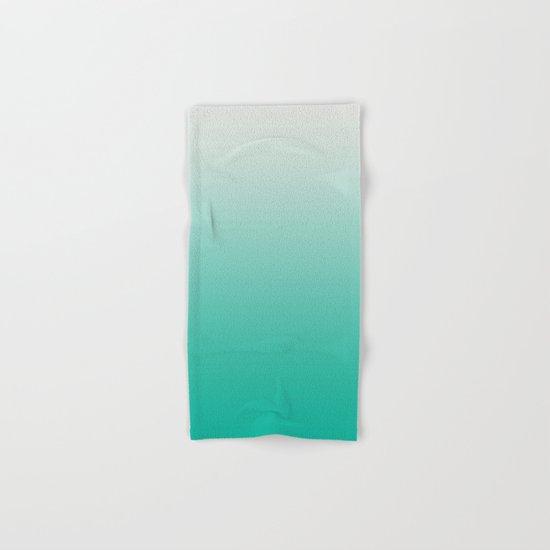 Mint Ombre Hand & Bath Towel