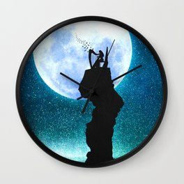 A Midnight Lullaby Wall Clock