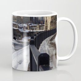 Minneapolis, Minnesota Skyline Stone Arch Bridge Coffee Mug