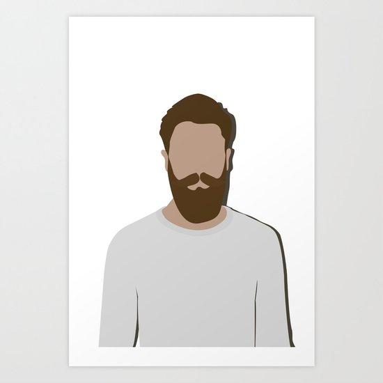FULL BEARD Art Print