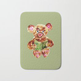 Painted Teddy Bear Bath Mat