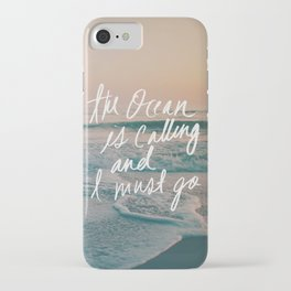 The Ocean is Calling by Laura Ruth and Leah Flores iPhone Case