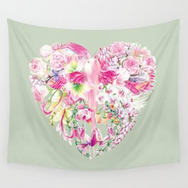 Blush Heart Wall Tapestry