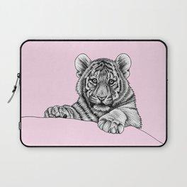 Amur tiger cub - pink Laptop Sleeve