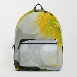 White Iceland Poppy Backpack