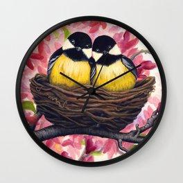 Chickadees Wall Clock