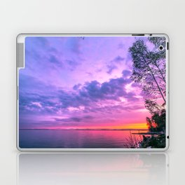 Day fading into the lake Laptop & iPad Skin