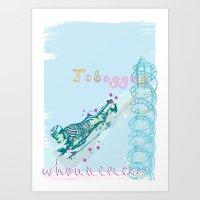 Toboggan ride...woahhhhhhhh! Art Print